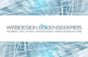 Visitenkarte der Firma Webdesign Bodenseekreis